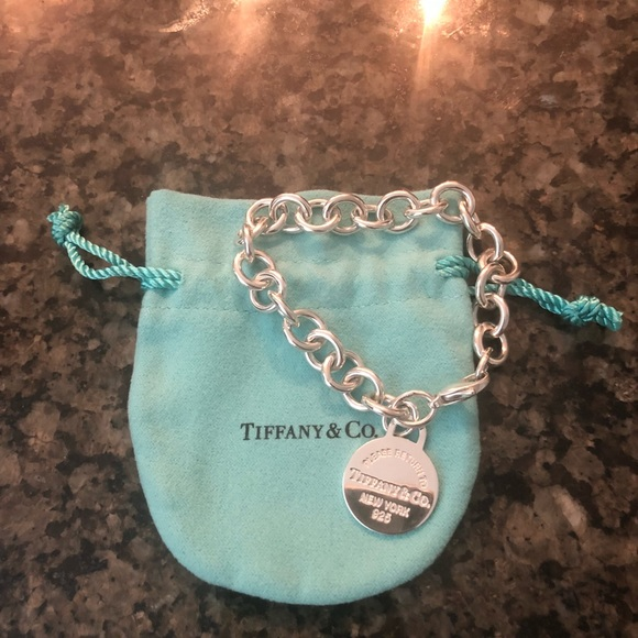 7fe9d60e4 Tiffany & Co. Jewelry | Tiffany Co Round Tag Bracelet | Poshmark